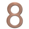 Architectural Mailboxes 5-in Cast Brass House Number Antique Copper 8