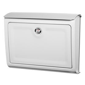 display product reviews for whitman 14in x 107in metal white lockable wall - Lockable Mailbox