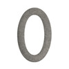 Architectural Mailboxes 4.1-in Distressed Antique Pewter House Number 0