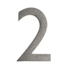 Architectural Mailboxes 4-in Distressed Antique Pewter House Number 2