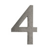 Architectural Mailboxes 4-in Distressed Antique Pewter House Number 4