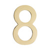 Architectural Mailboxes 3.9-in Polished Brass House Number 8