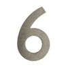 Architectural Mailboxes 5.2-in Distressed Antique Pewter House Number 6
