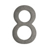Architectural Mailboxes 5-in Distressed Antique Pewter House Number 8