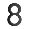Architectural Mailboxes 5-in Black House Number 8