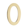 Architectural Mailboxes 5-in Polished Brass House Number 0