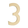 Architectural Mailboxes 5.1-in Polished Brass House Number 3