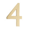 Architectural Mailboxes 5-in Polished Brass House Number 4