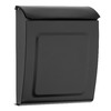 Architectural Mailboxes Aspen 9-in x 11.2-in Metal Black Lockable Wall Mount Mailbox