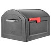Architectural Mailboxes Centennial 14.2-in x 12.6-in Metal Pewter Post Mount Mailbox