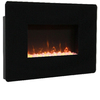 Muskoka 27-in W 4,600-BTU Black Metal Wall-Mount Fan-Forced Electric Fireplace with Thermostat and Remote Control