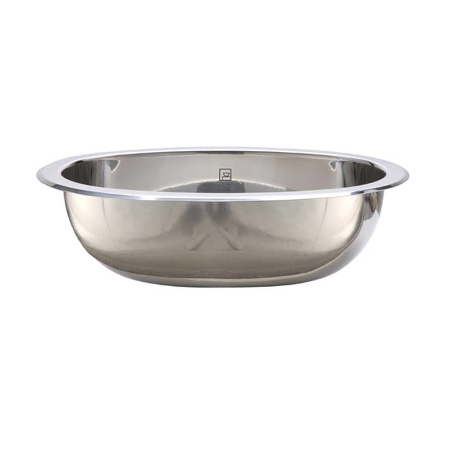 ... Stainless Polished Stainless Steel Undermount Oval Bathroom Sink at
