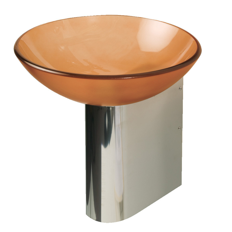... 11.875-in H Polished Stainless Steel Pedestal Sink Base at Lowes.com