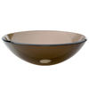 DECOLAV Translucence Charcoal Glass Drop-In Round Bathroom Sink