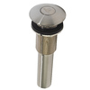 DECOLAV Satin Nickel Push Button Closing Umbrella Drain