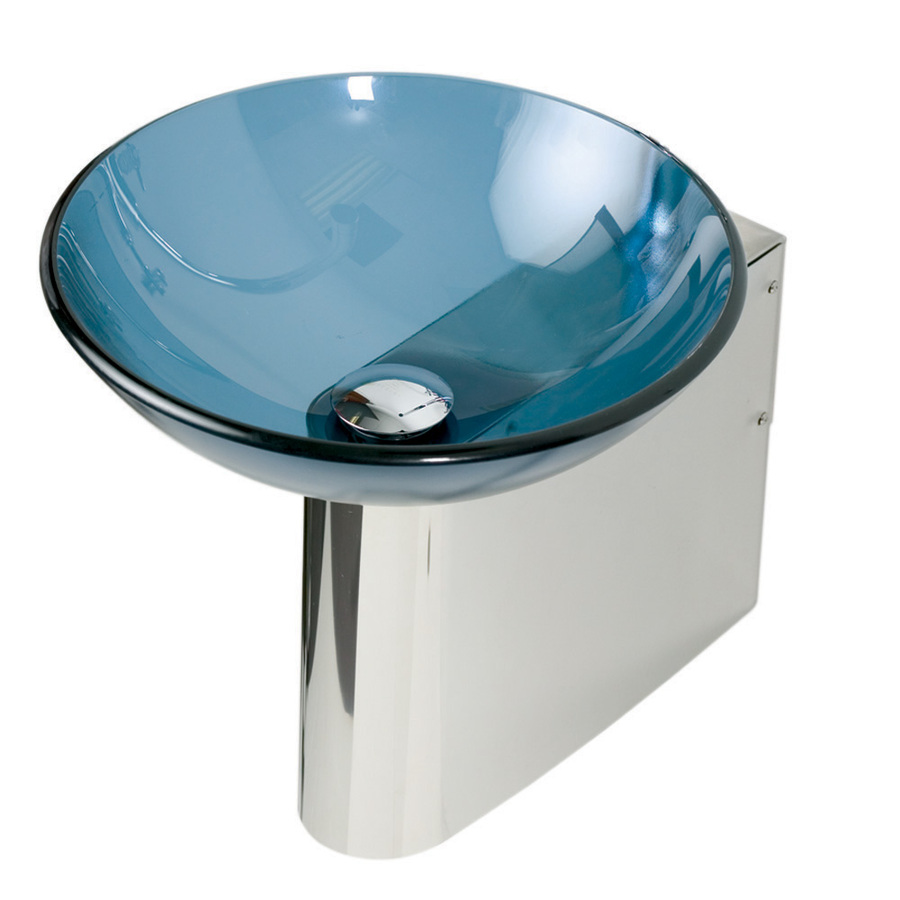 11.875 In H Polished Stainless Steel Pedestal Sink Base At Lowes.com