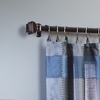 allen + roth 72-in to 144-in Aged Bronze Single Curtain Rod