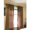 allen + roth 72-in to 144-in Clear Single Curtain Rod