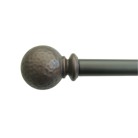 allen + roth 72-in to 144-in Oil-Rubbed Bronze Single Curtain Rod