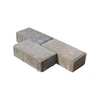 Tan-Charcoal-Gray/Smooth Holland Concrete Paver (Common: 4-in x 8-in; Actual: 4-in x 8-in)