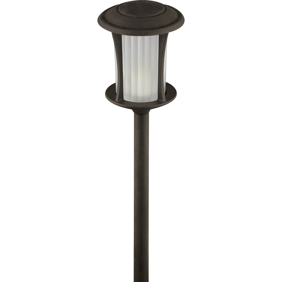 Shop portfolio specialty textured bronze low voltage 3 3 for Low voltage led walkway lights