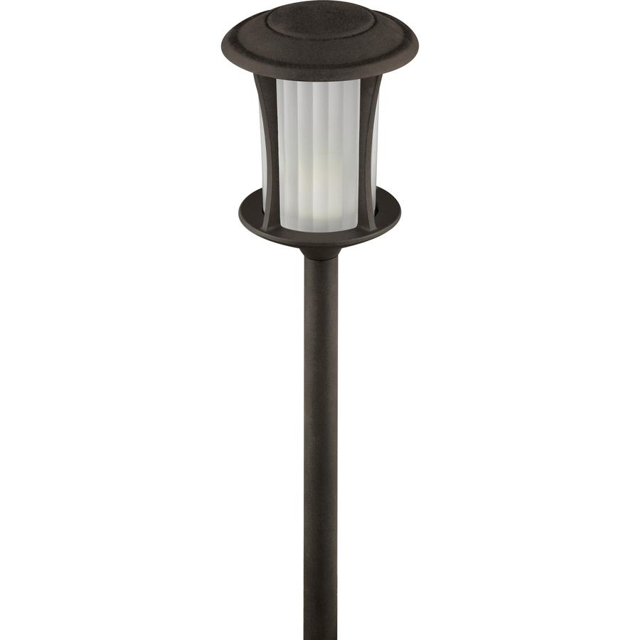 Shop portfolio specialty textured bronze low voltage 3 3 for Low voltage walkway lights