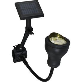 shop portfolio 12x black solar led spot light at. Black Bedroom Furniture Sets. Home Design Ideas