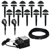 Portfolio 10-Path Light Black Low Voltage 4-Watt Halogen Path Light Kit with 2-Spot Lights
