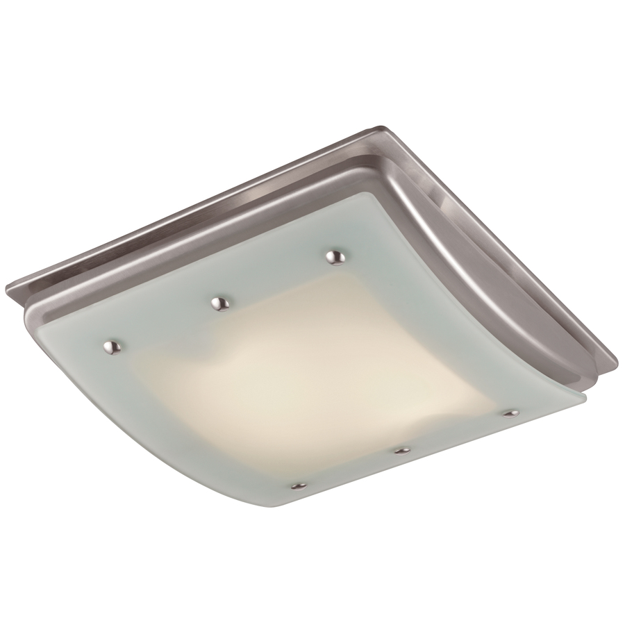 shop utilitech 1 5 sone 100 cfm brushed nickel bathroom