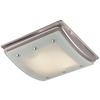 Utilitech 1.5-Sone 100-CFM Brushed Nickel Bathroom Fan Incandescent with Light