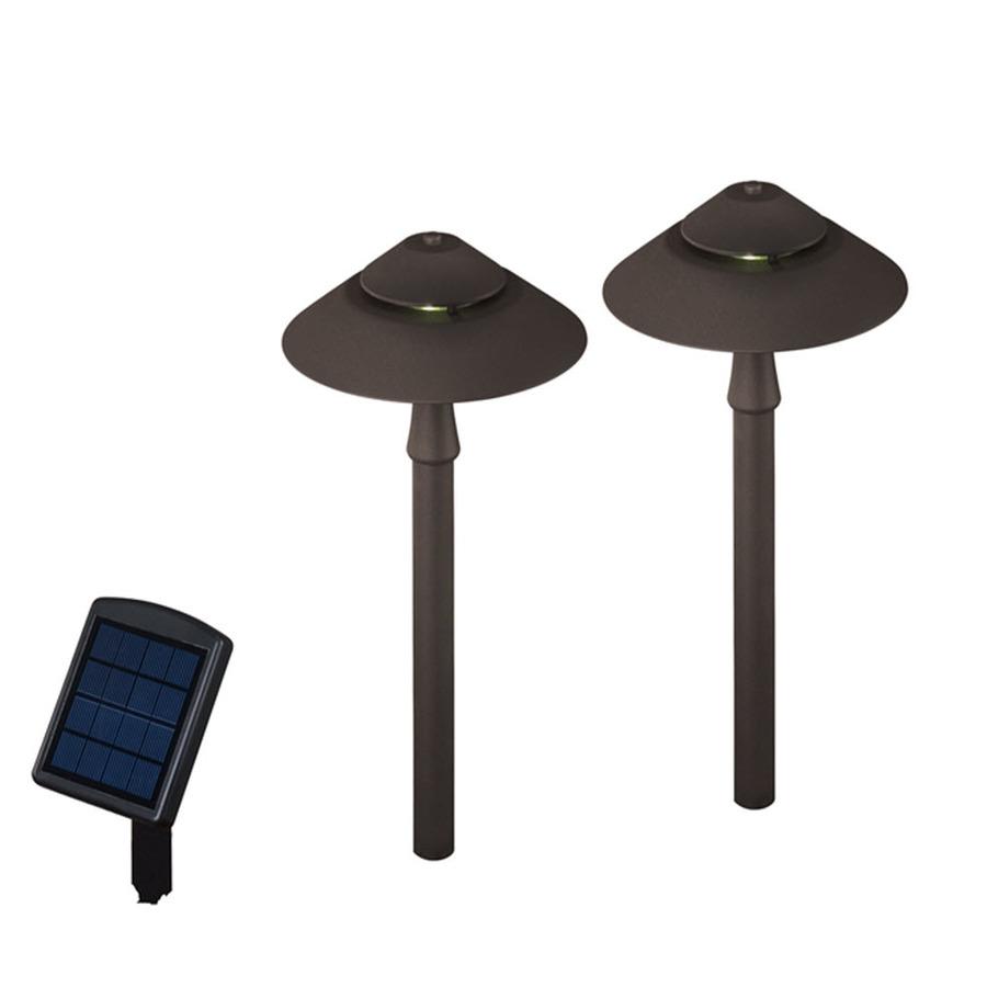 shop portfolio 2 path light specialty textured bronze led path light. Black Bedroom Furniture Sets. Home Design Ideas