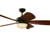 Harbor Breeze Saratoga 60-in Oil-Rubbed Bronze Downrod Mount Ceiling Fan with Light Kit and Remote