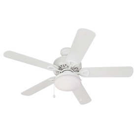 Harbor Breeze 52-in Calera White Outdoor Ceiling Fan with Light Kit