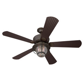 Harbor Breeze 52-in Merrimack Gilded Bronze Outdoor Ceiling Fan with Light Kit