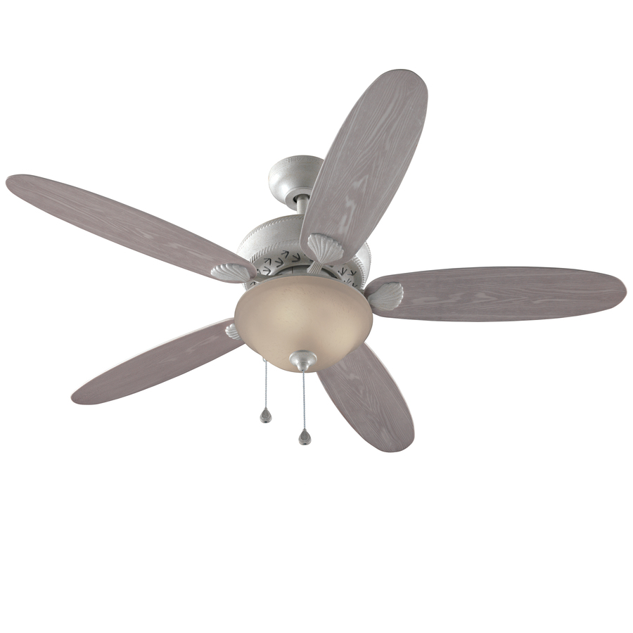 52 in white outdoor downrod mount ceiling fan with light kit. Black Bedroom Furniture Sets. Home Design Ideas