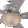 Harbor Breeze Clearwater 52-in White Downrod Mount Indoor/Outdoor Ceiling Fan with Light Kit