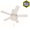 Harbor Breeze 36-in White Downrod or Close Mount Indoor Ceiling Fan with Light Kit