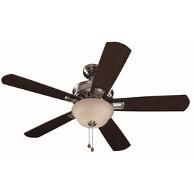 Harbor Breeze 54-in Easy Breeze Brushed Nickel Ceiling Fan with Light Kit ENERGY STAR
