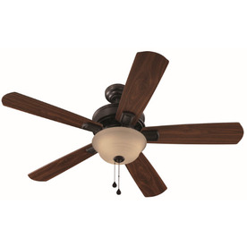 Harbor Breeze Easy Breeze 54-in Antique Bronze Multi-Position Indoor Ceiling Fan with Light Kit