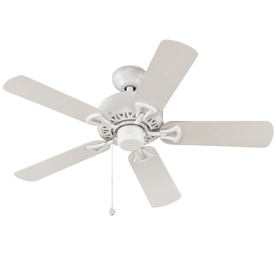 Harbor Breeze Calera 42-in White Downrod or Close Mount Indoor/Outdoor Ceiling Fan