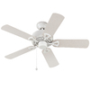 Harbor Breeze 42-in White Downrod or Close Mount Indoor/Outdoor Ceiling Fan