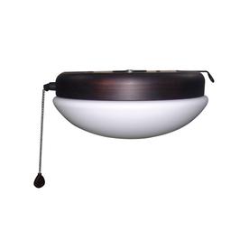 Harbor Breeze Calera Bronze 1-Light Aged Bronze Fluorescent Ceiling Fan Light Kit with Opalescent Glass ENERGY STAR