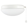 Harbor Breeze White Ceiling Fan Light Kit with Matt Opal Shade