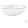 Harbor Breeze Calera White 1-Light White Fluorescent Ceiling Fan Light Kit with Opalescent Glass ENERGY STAR