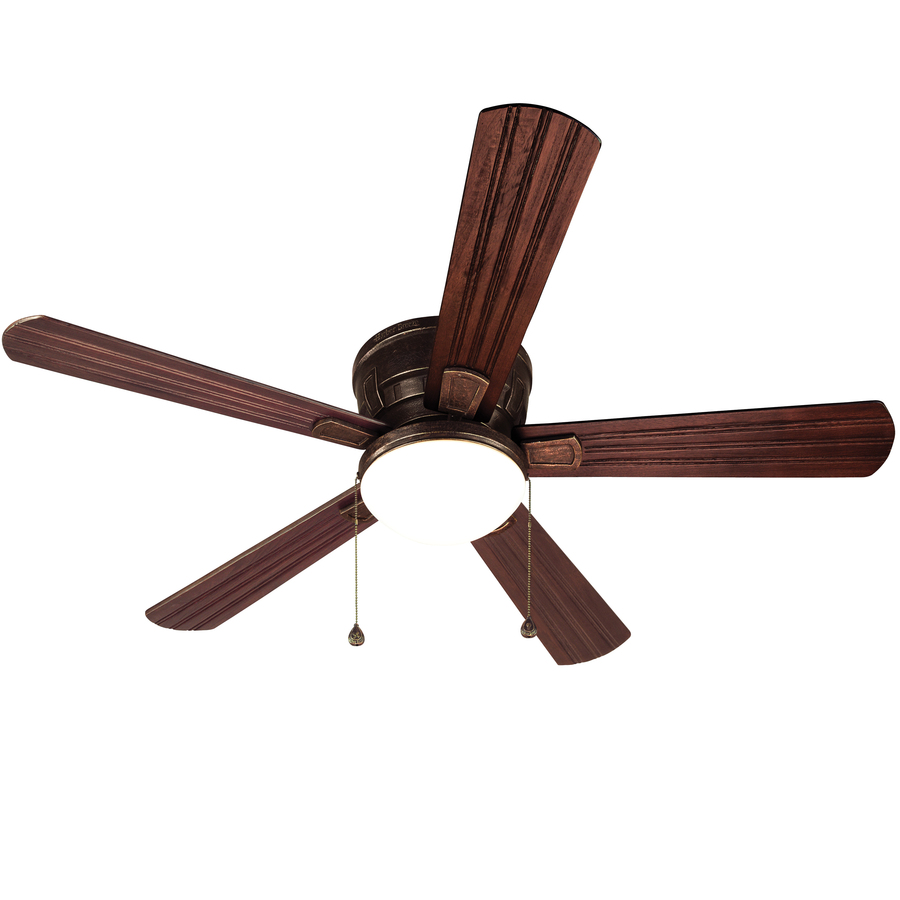 ... Outdoor Flush Mount Ceiling Fan Standard with Light Kit at Lowes.com