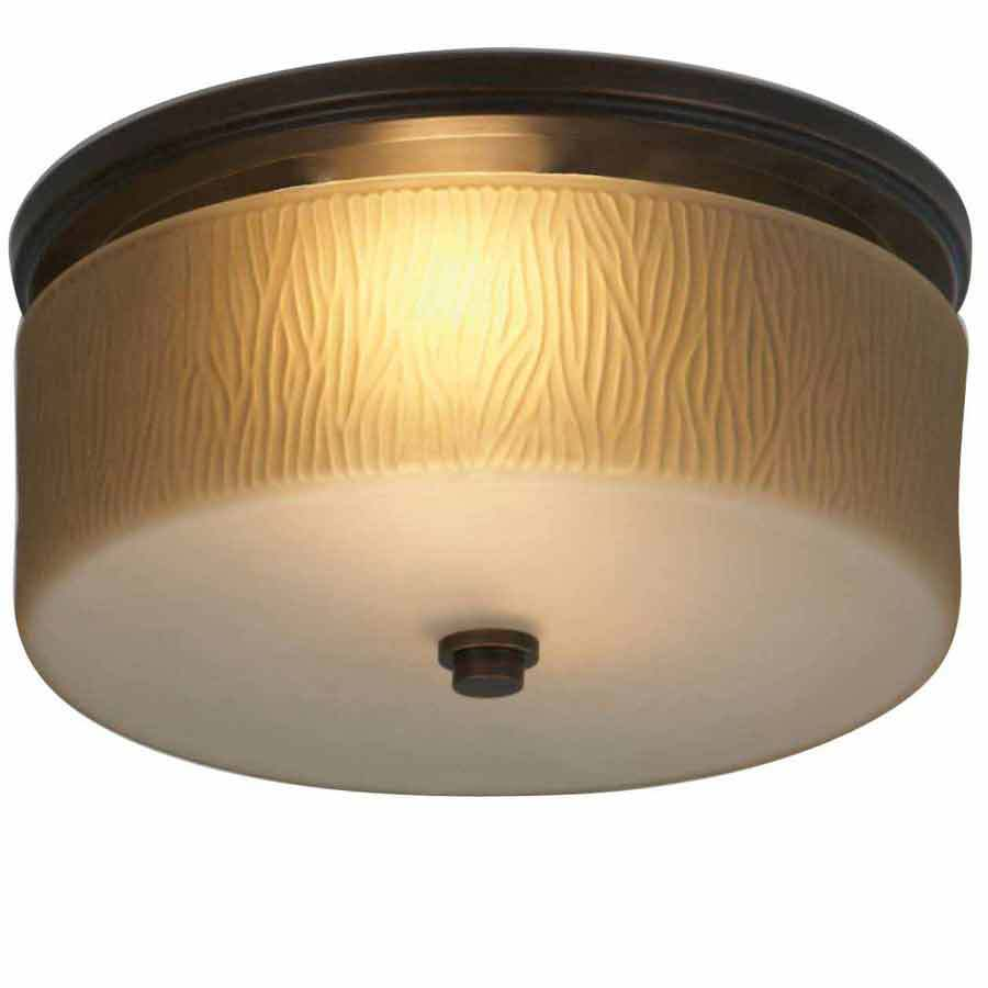 Shop Allen + Roth 1.5-Sone 90-CFM Oil-Rubbed Bronze Bathroom Fan With Room Light At Lowes.com
