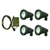 Portfolio 4-Light Black Low Voltage Flood Light Kit