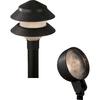 Portfolio 10-Path Light Black Low Voltage 4-Watt (4W Equivalent) Incandescent Path Light Kit Includes 2-Spot Lights
