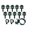 Portfolio 12-Light Black Low Voltage Path and Spotlight Kit