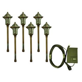 portfolio 6 light copper low voltage path light landscape light kit. Black Bedroom Furniture Sets. Home Design Ideas